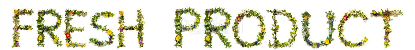 Flower And Blossom Letter Building Word Fresh Product
