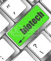 bio tech message on enter key of keyboard keys