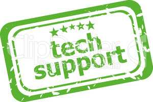 tech support grunge rubber stamp isolated on white background
