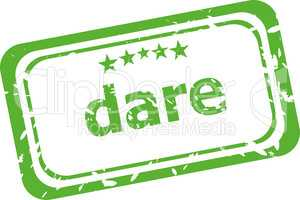 dare word on rubber old business stamp