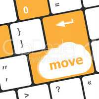 Move button word on enter keyboard keys