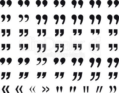 Quotes, quotation marks