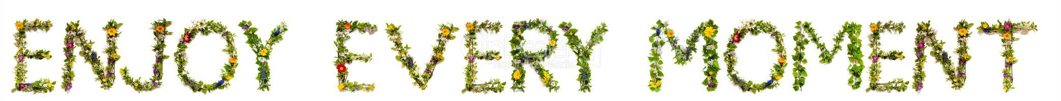 Flower And Blossom Letter Building Word Engjoy Every Moment