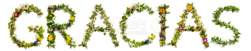 Flower And Blossom Letter Building Word Hope