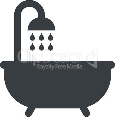 Bathtub shower icon