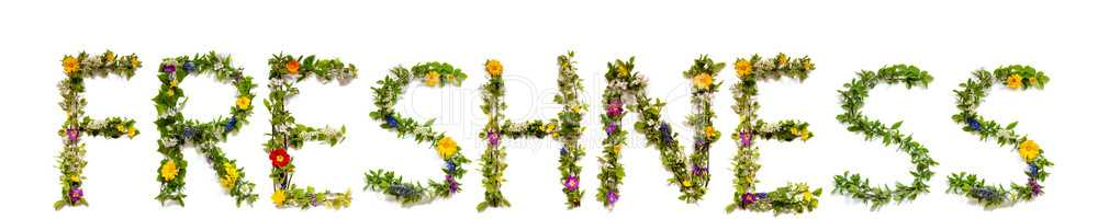 Flower And Blossom Letter Building Word Freshness