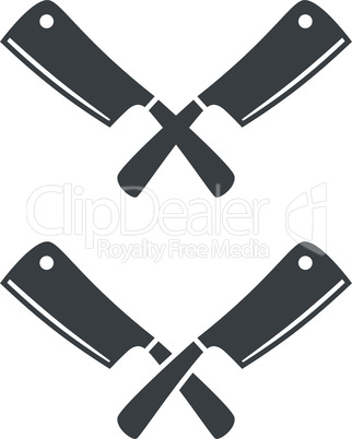 Kitchen knives or cleaver crossed
