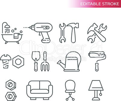 Hardware store icons