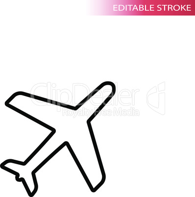 Airplane black outline icon