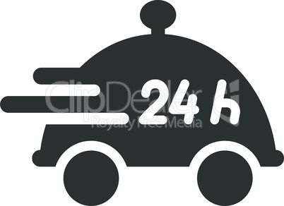Twenty four hour service or non stop food delivery