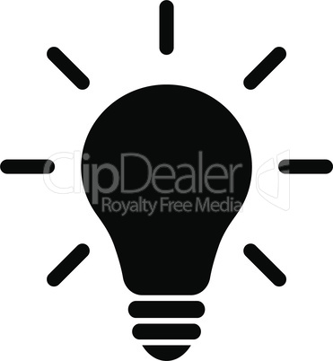 Light bulb idea concept vector icon.