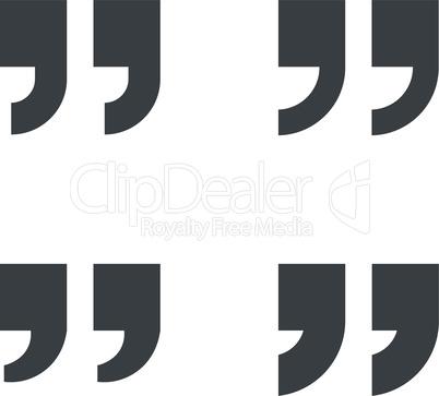 Quotation marks symbols