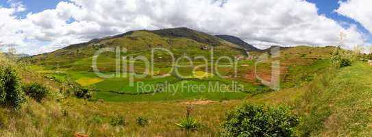 A landscape shot as a panoramic image of the beauty of Madagascar