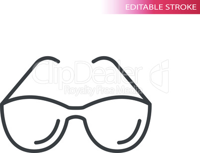 Sunglasses, glasses frame simple thin line icon
