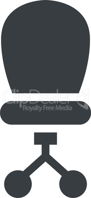 Office chair simple vector icon
