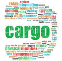cargo word. Business concept . Word cloud collage