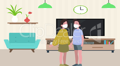 kids are playing and watching television at home