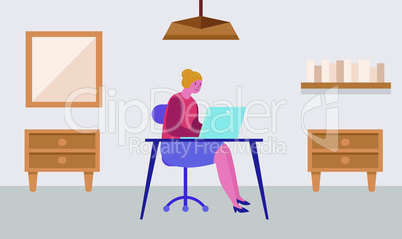 a girl working on laptop at home