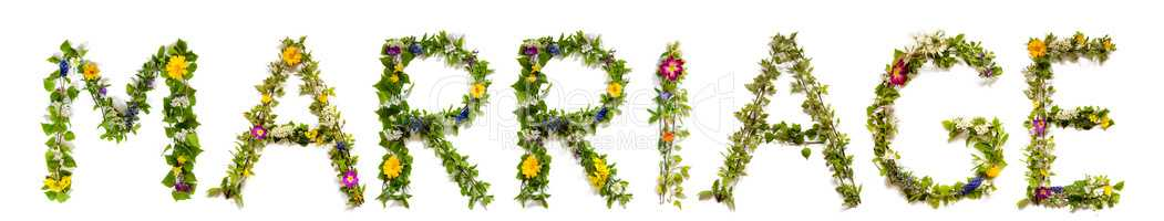 Flower And Blossom Letter Building Word Marriage