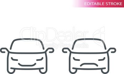 Car thin line vector icon