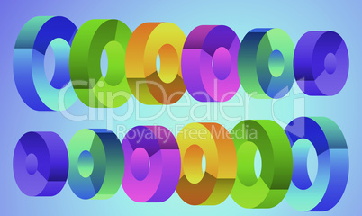 digital textile design of art on abstract backgrounds