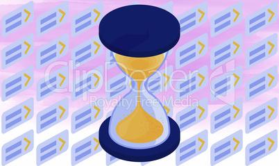 sand dispenser vector illustration on abstract background