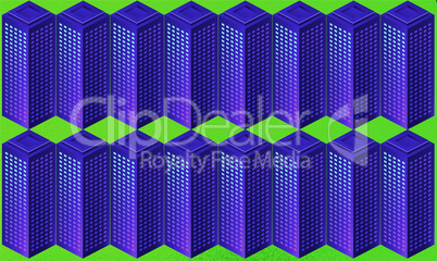 digital textile design of big block on abstract background