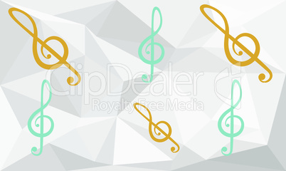 collection of music art on abstract background