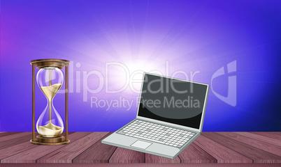 mock up illustration of sand dispenser on table
