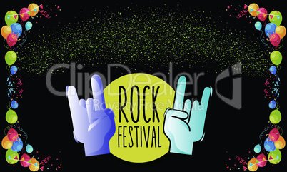 rock festival is just going to start soon