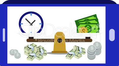 time and money is a balance in personal and business life