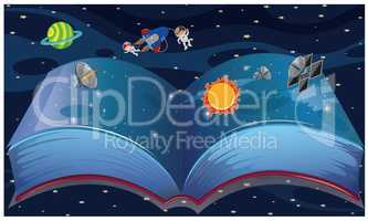 book contains complete space knowledge with actual things