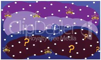 wallpaper golden stars illustration on abstract cloud background