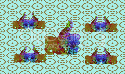abstract design on texture background
