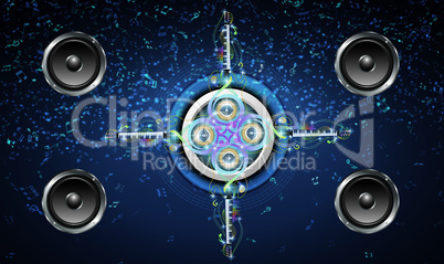 abstract music art on graphic background