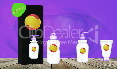 product package on abstract background