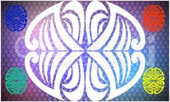 Kaleidoscope shape texture on an abstract background.