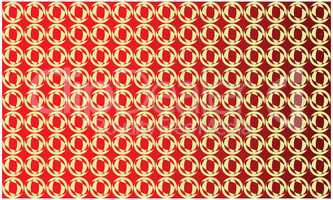 circles and ovals on abstract red background