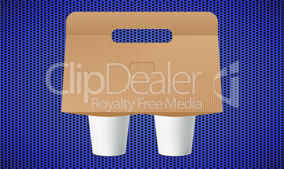mock up illustration of shake with package stand on abstract background