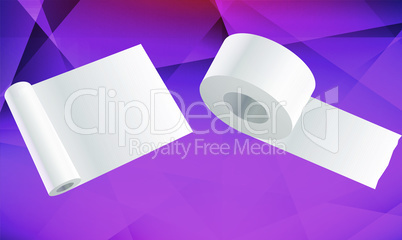 mock up illustration of different size of tissue roll on abstract background