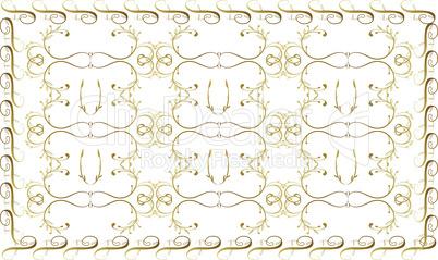 digital textile design on golden art