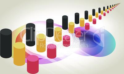 digital textile illustration design of abstract art