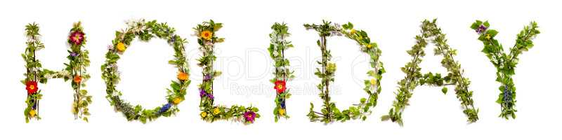 Flower And Blossom Letter Building Word Holiday