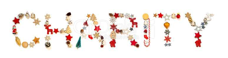 Colorful Christmas Decoration Letter Building Word Charity