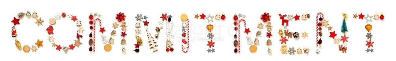 Colorful Christmas Decoration Letter Building Word Commitment