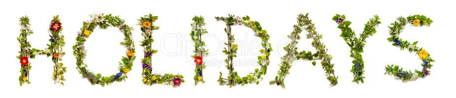 Flower And Blossom Letter Building Word Holidays