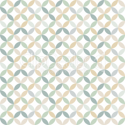 Circle seamless pattern design in color