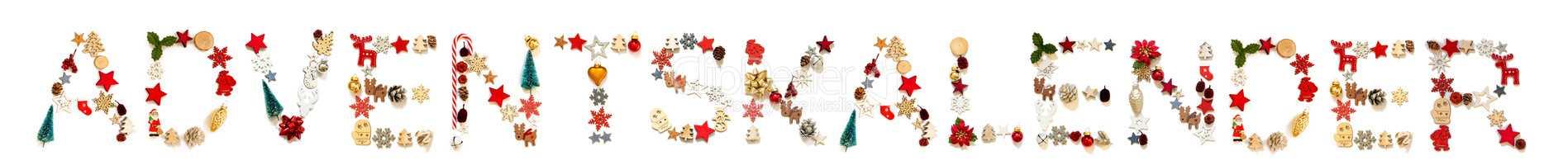 Christmas Decoration Letter Building Adventskalender Means Advent Calendar