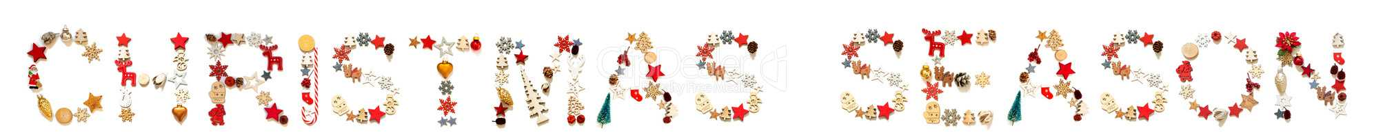 Colorful Christmas Decoration Letter Building Word Christmas Season