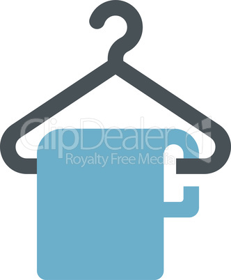 Hanger with a cloth or a towel glyph icon